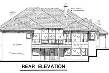 House Blueprint - European Exterior - Rear Elevation Plan #18-180