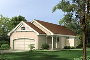 Traditional Style House Plan - 3 Beds 2 Baths 983 Sq/Ft Plan #57-313 Exterior - Front Elevation