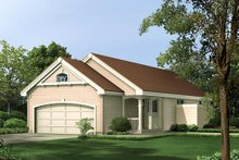 Home Plan Design - Traditional Exterior - Front Elevation Plan #57-313