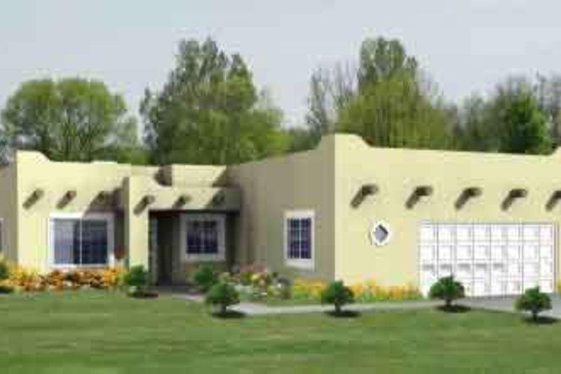 Adobe / Southwestern Style House Plan - 4 Beds 2 Baths 1990 Sq/Ft Plan #1-795