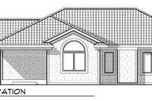 Mediterranean Exterior - Rear Elevation Plan #70-928