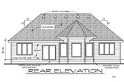 Craftsman Style House Plan - 2 Beds 2 Baths 1620 Sq/Ft Plan #20-2115 Exterior - Rear Elevation