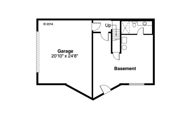 Log Floor Plan - Lower Floor Plan Plan #124-951