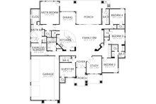 Contemporary Floor Plan - Main Floor Plan Plan #80-216