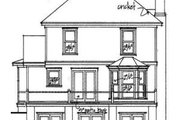 Victorian Style House Plan - 3 Beds 2.5 Baths 1547 Sq/Ft Plan #322-110 Exterior - Rear Elevation