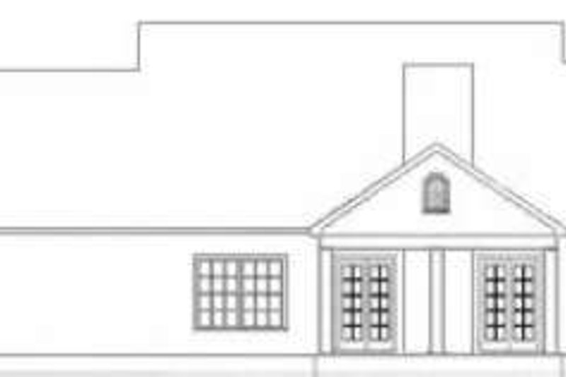 Traditional Exterior - Rear Elevation Plan #406-120 - Houseplans.com