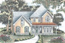 House Plan Design - Traditional Exterior - Front Elevation Plan #405-338