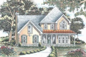 Dream House Plan - Traditional Exterior - Front Elevation Plan #405-338