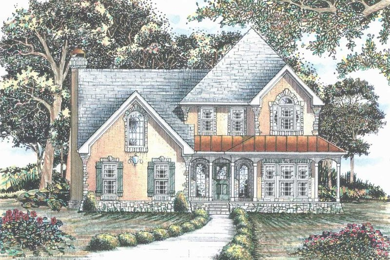 Architectural House Design - Traditional Exterior - Front Elevation Plan #405-338