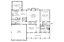 Country Floor Plan - Main Floor Plan Plan #927-9