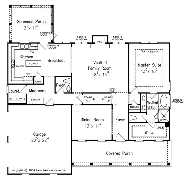 Country Floor Plan - Main Floor Plan Plan #927-9