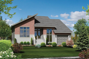 Contemporary Exterior - Front Elevation Plan #25-4467