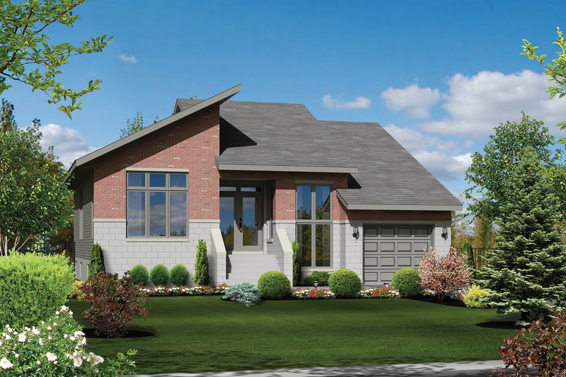 Contemporary Style House Plan - 2 Beds 1 Baths 1332 Sq/Ft Plan #25-4467 Exterior - Front Elevation