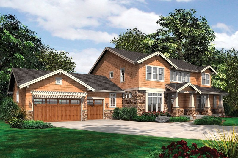 Craftsman Exterior - Front Elevation Plan #48-249