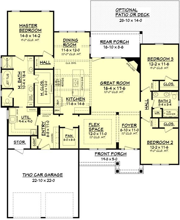 Architectural House Design - Country Floor Plan - Main Floor Plan #430-91