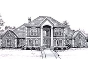 Colonial Style House Plan - 4 Beds 3.5 Baths 3852 Sq/Ft Plan #310-947 Exterior - Front Elevation