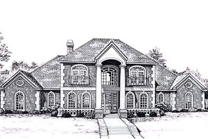 Colonial Exterior - Front Elevation Plan #310-947