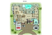 Contemporary Style House Plan - 6 Beds 8 Baths 9301 Sq/Ft Plan #548-27 Floor Plan - Main Floor Plan
