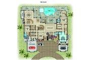 Contemporary Style House Plan - 6 Beds 8 Baths 9301 Sq/Ft Plan #548-27 Floor Plan - Main Floor Plan