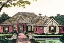 European Exterior - Front Elevation Plan #310-831