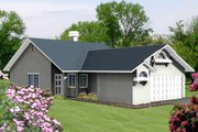 Traditional Style House Plan - 3 Beds 2 Baths 1133 Sq/Ft Plan #1-175