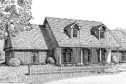 Farmhouse Style House Plan - 3 Beds 2 Baths 2651 Sq/Ft Plan #11-110 Exterior - Front Elevation