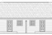 Southern Style House Plan - 2 Beds 2 Baths 1650 Sq/Ft Plan #21-184 Exterior - Rear Elevation