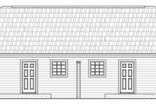 Southern Exterior - Rear Elevation Plan #21-184