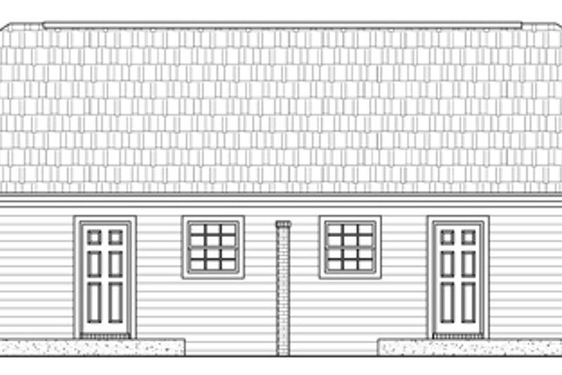 Southern Exterior - Rear Elevation Plan #21-184 - Houseplans.com
