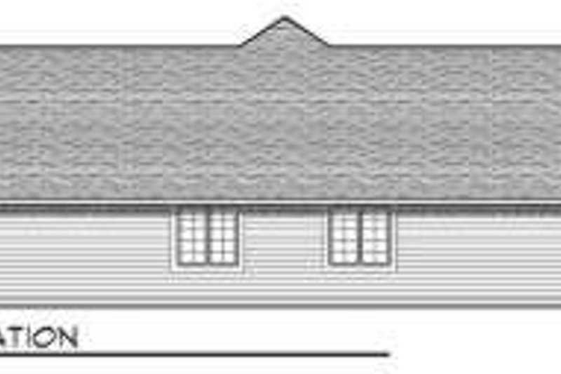 Traditional Exterior - Rear Elevation Plan #70-747 - Houseplans.com