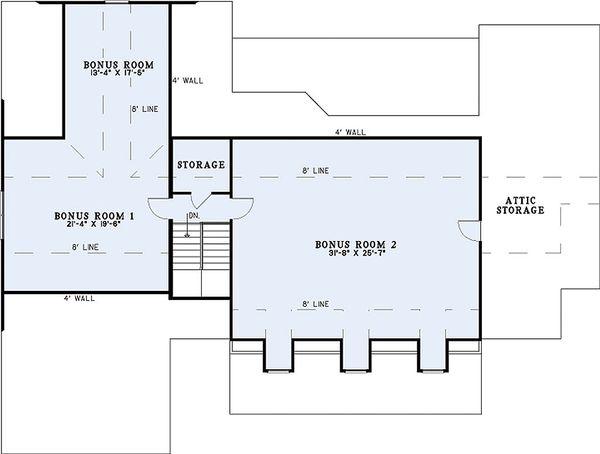 Home Plan Design - Southern Floor Plan - Other Floor Plan #17-2587