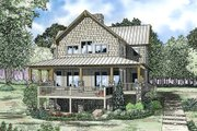 Country Style House Plan - 4 Beds 3.5 Baths 3003 Sq/Ft Plan #17-2361 Exterior - Front Elevation