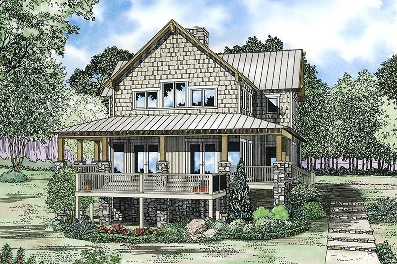 House Plan Design - Country Exterior - Front Elevation Plan #17-2361
