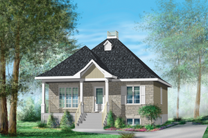Country Exterior - Front Elevation Plan #25-4638