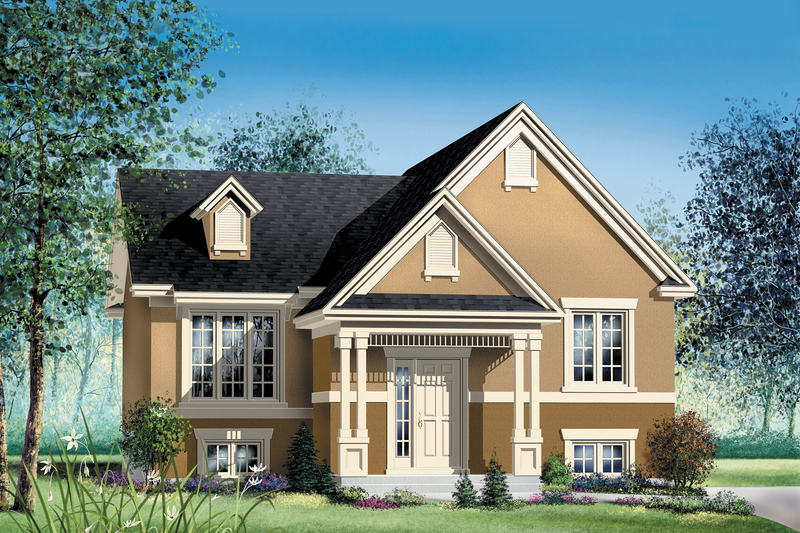 Traditional Style House Plan - 2 Beds 1 Baths 960 Sq/Ft Plan #25-113 Exterior - Front Elevation