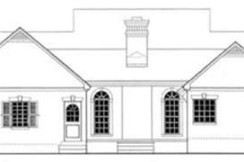 Southern Exterior - Rear Elevation Plan #406-190 - Houseplans.com