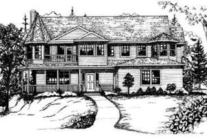 Victorian Exterior - Front Elevation Plan #303-324