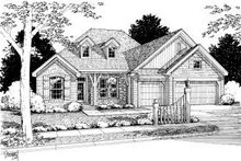 Traditional Exterior - Front Elevation Plan #20-323