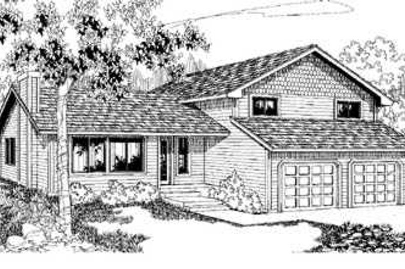 Traditional Exterior - Front Elevation Plan #60-473 - Houseplans.com