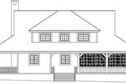 Country Style House Plan - 3 Beds 3.5 Baths 2400 Sq/Ft Plan #81-822 Exterior - Rear Elevation