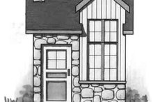Cottage Exterior - Front Elevation Plan #23-463