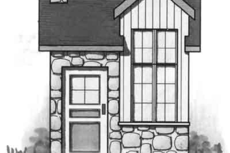 Cottage Exterior - Front Elevation Plan #23-463