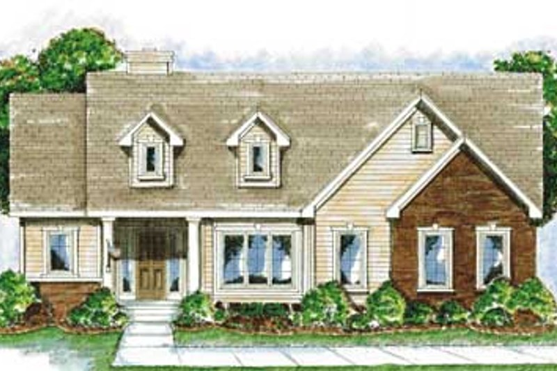 Traditional Exterior - Front Elevation Plan #20-1382 - Houseplans.com