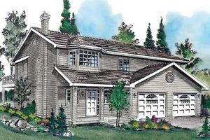 Traditional Exterior - Front Elevation Plan #18-9231