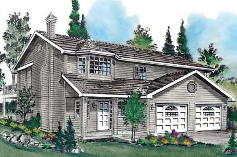 Traditional Style House Plan - 4 Beds 2 Baths 1440 Sq/Ft Plan #18-9231