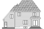 European Style House Plan - 3 Beds 2.5 Baths 2121 Sq/Ft Plan #138-336 Exterior - Rear Elevation