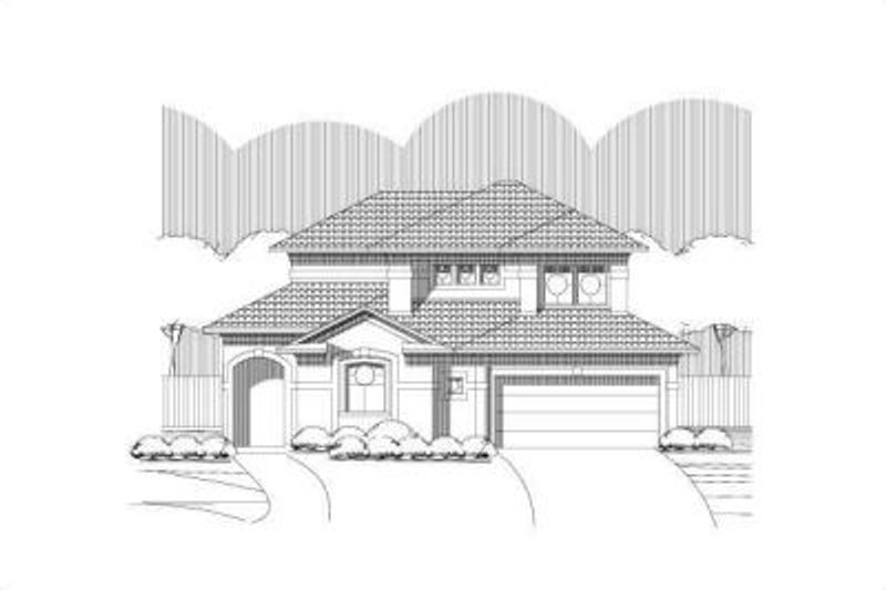 House Plan - 3 Beds 2 Baths 2287 Sq/Ft Plan #411-247 Exterior - Front Elevation