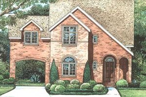 European Exterior - Front Elevation Plan #20-1405