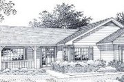 Ranch Style House Plan - 3 Beds 2 Baths 1640 Sq/Ft Plan #53-152 Exterior - Front Elevation