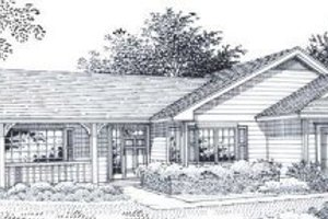 Ranch Exterior - Front Elevation Plan #53-152